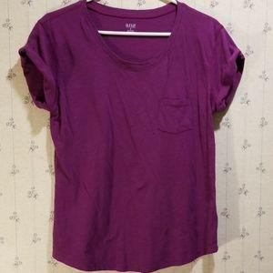 A.n.a Purple Tee with Pocket